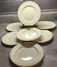 "SET OF 7 WEDGEWOOD ETRURIA EDME 8"" Salad PLATES - MADE IN ENGLAND"