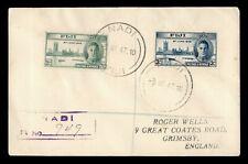 DR WHO 1947 FIJI NADI REGISTERED TO GB 183666