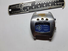 VINTAGE BLUE DIAL 17J SICURA JUMP HOUR INSTALITE WATCH FOR YOU TO FIX STOPS