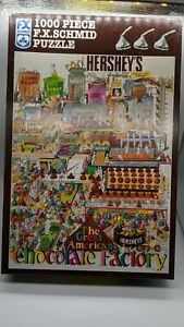 1997 Hershey's Great American Chocolate Factory Puzzle 1000 piece F.X. Schmid