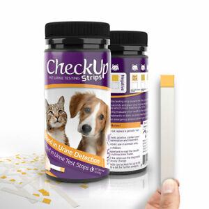 CheckUp Dog Cat Pet Urine Urinalysis Blood Detection Testing Strips 50 ct
