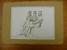 ORIGINAL, ANTIQUE 1833 'HB'  SATIRICAL LITHOGRAPHIC PRINT, HB LITHOGRAPH. No 279