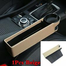 Car Seat Gap Storage Box Crevice Universal Beige PU Leather Interior Accessories