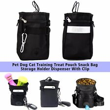 Pet Dog Cat Training Treat Pouch Snack Bag Storage Holder Dispenser With Clip