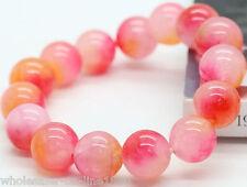 """12mm Natural Jade Jadeit Round Beads Gemstone Stretch Bracelet AAA 7.5"""""""
