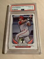 "😳2014 BOWMAN DRAFT PICKS RHYS HOSKINS RC""PSA 10 GEM MINT""Phillies Slugger😤"