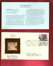 LOUIS ARMSTRONG / A FABULOUS 22kt. GOLD PLATED STAMP TRIBUTE 1.st.DAY COVER.