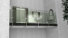 Edelstahl Glas Balkongeländer Unter Boden Montage Bausatz