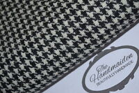 HARRIS TWEED FABRIC & LABELS BLACK & WHITE 100% wool CRAFT UPHOLSTERY QUILTING 2