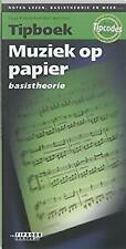 Tipboek muziek op papier Basistheorie by Pinksterboer, Hugo, Noorman, Bart