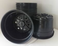 "8"" Round PLASTIC MUM POTS - SET OF 10 - {8"" x 5""} flower nursery pan"