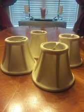 Four (4) Ivory White Chandelier Lampshades, Lined and Padded