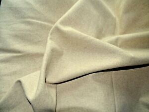 Wool material Superb quality Pure Wool colour Oatmeal piece 6m x 56cms (ref W6)