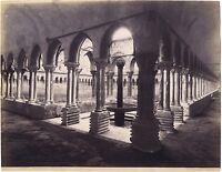 Monreale Chiostro Italia Vintage Albumina Ca 1880
