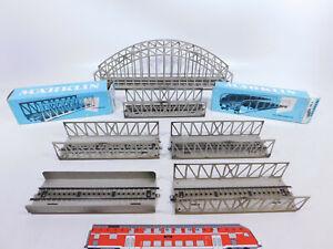 CQ889-2# 6x Märklin H0/AC Gitterbrücke/Bogenbrücke etc, 2. Wahl: 7161+7162+7163