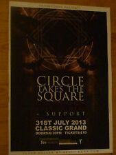 Circle Takes The Square Glasgow 2013 tour concert gig poster