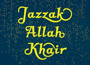 Jazzak Allah Khair Greeting Card