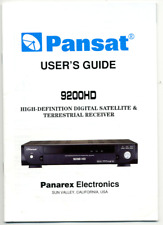 MANUAL, PANSAT 9200 HD SATELLITE RECEIVER