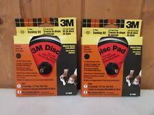 "3M 5"" Disc Sander Kit Adhesive Backed ~ 2 Pack ~ New"