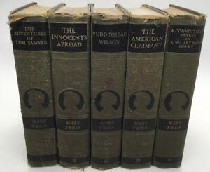 Complete Works Of Mark Twain 24 Volume Set Plus 1st Edition Autobio Vol 1 & 2