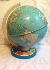Vintage Metal tin Globe The Ohio  Art earth world countries Geography landmark