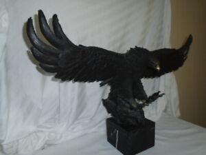 Large Bronze American Eagle Sculpture Statue Monument