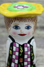 "Ganz Ceramic Michelle Salt or Pepper Shaker 4 1/4"" Tall"