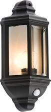 Knightsbridge IP33 60W Die-Cast Aluminium Clear Glass Wall Lantern PIR Sensor x1