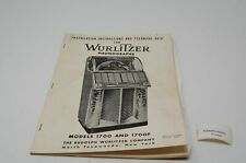 Wurlitzer 1700 Englisch Manual Jukebox (P5093)