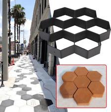 Hexagon DIY Driveway Paving Pavement Stone Mold Concrete Stepping Pathmate Paver