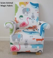 John Lewis Scion Animal Magic Fabric Childs Chair Kids Armchair Tiger Lion Hippo