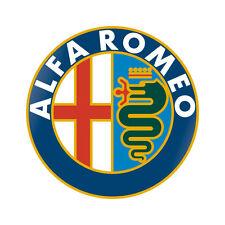 Sticker plastifié ALFA ROMEO LOGO - 6cm x 6cm