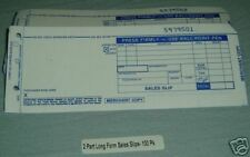 Sales Slips for Manual Imprinters- 2 part long form
