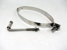 "Stainless Steel 8"" x 5"" Exhaust Silencer Bracket Muffler Box Strap Oval Band"