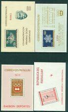 Paraguay : 1962-64. Scott #714a, 43a, 59a, 98a Olympics. Very Fine, Mint Nh.