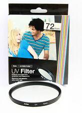 Filtro Multicapa UV 72mm Vivitar para Canon Nikon Sony Pentax Olympus Tamron