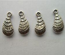 50 pcs Tibetan silver conch charm pendant 15x7mm