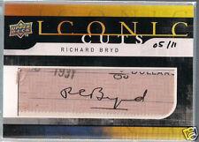 Richard Byrd 2008 UPPER DECK ICONIC CUTS CARD #05/11