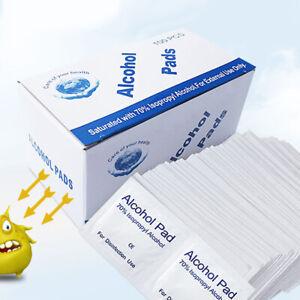 100PCS Reynard Alcohol Pad Wipes Sterile 75% Medical Isopropyl Skin Swabs