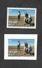 Australia-Drought Relief-Scarce Perforated issue with normal self-ad -2019 mnh