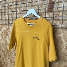 Supreme Arc/Arch Logo Athletic Tee T-shirt M MEDIUM spellout cut and sew yellow