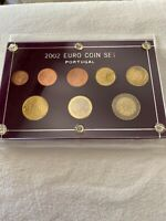 First official issue of the Euro 2002 Portugal Set of 8 Coins Uncirculated