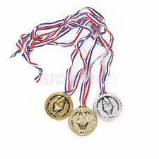 12PLASTIC TORCH MEDAL SET GOLD SILVER BRONZE PARTY FAVOR OLYMPIC EVENT PRIZE TOY