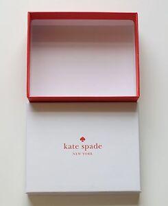 "Kate Spade Gift Jewelry Box 4.5"" x 5.5"" x 1.75"" Small Cute Box NEW"