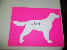 Irws Irish Red & White Setter Car Magnet Hand Cut and Painted U pick style color