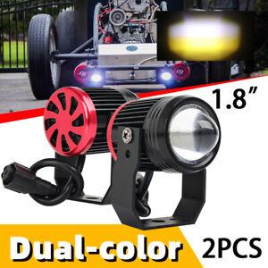 2PCS 125W Mini Projector LED Motorcycle Headlight Spotlights Work Fog Light ATV