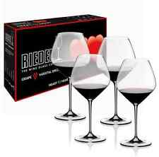 NEW RIEDEL HEART TO HEART PINOT NOIR SET OF 4 WINE GLASSES CRYSTAL GLASSWARE