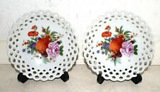 Two porcelain Wallendorf lace floral dishes -13 cm diameter. Excellent Condition