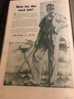 John Lysaght Original 1940s Vintage Print Ad WWII Era