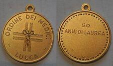 medaglia ordine dei medici di Lucca 50 anni di laurea